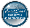 Awarded Best Service in North America by Coast Spas